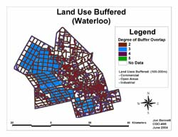 buffered land use